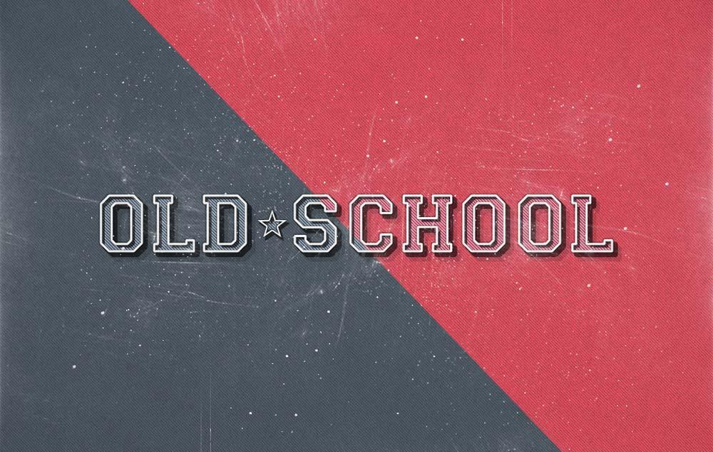Free Old School Retro Text Effect