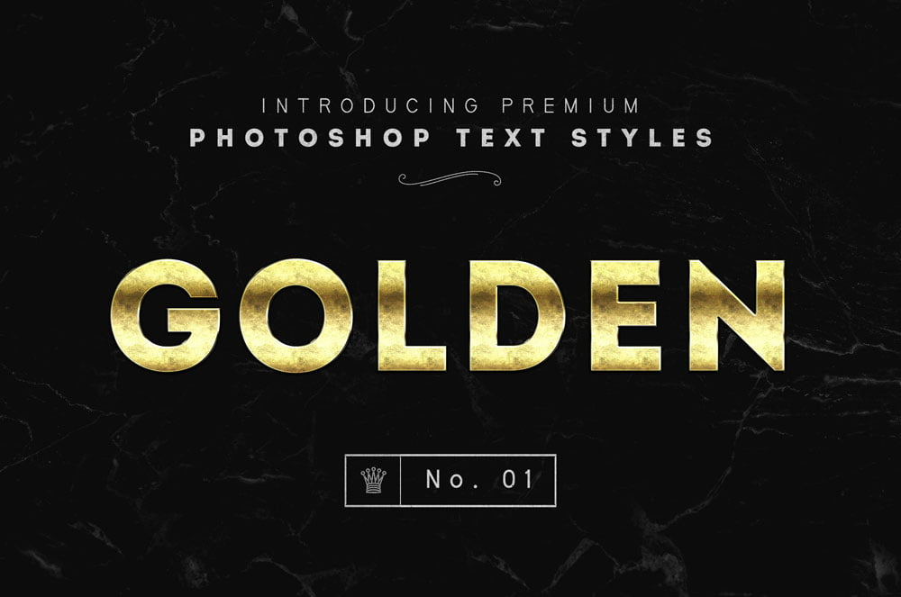 Free Photoshop Gold Text Styles