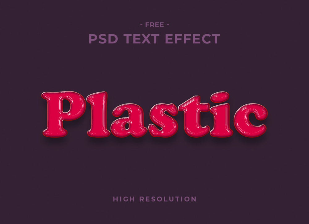 Free Plastic Text Effect
