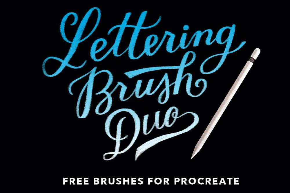 Free Procreate Lettering Brush