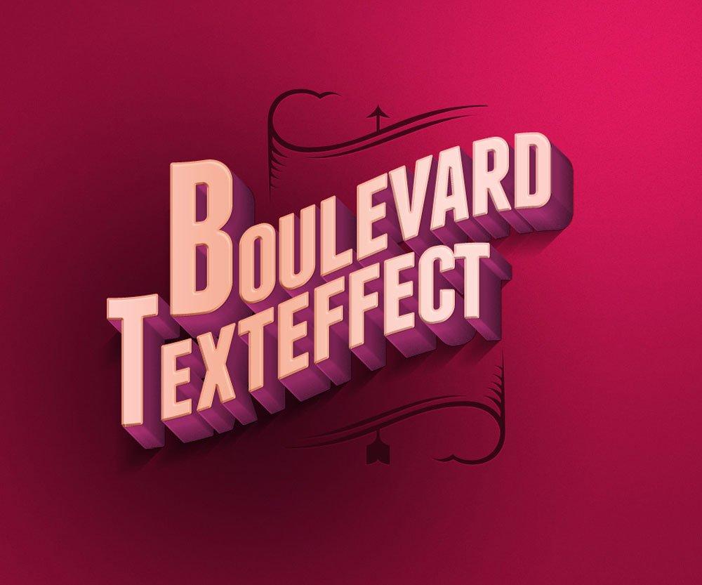 Free Boulevard Retro Text Effect