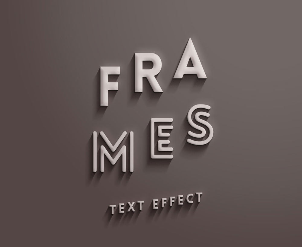 Free Frames Text Effect