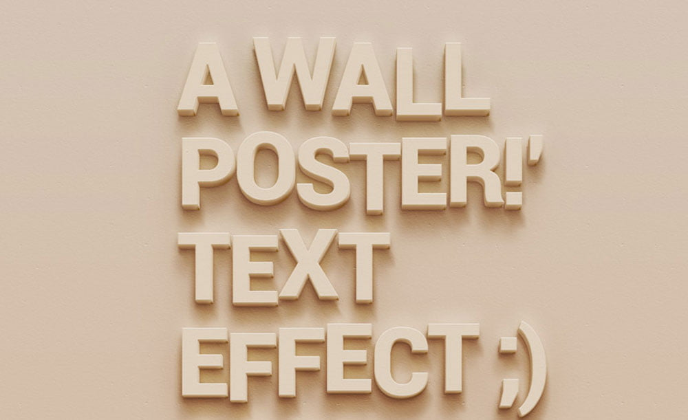 Free Wall Poster Text Effect