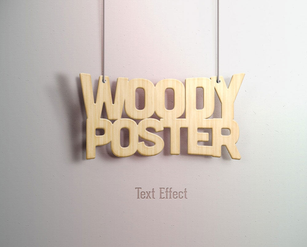 Free Woody Text Effect