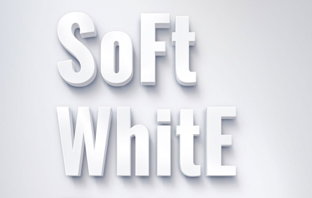 Free Soft White Text Effect