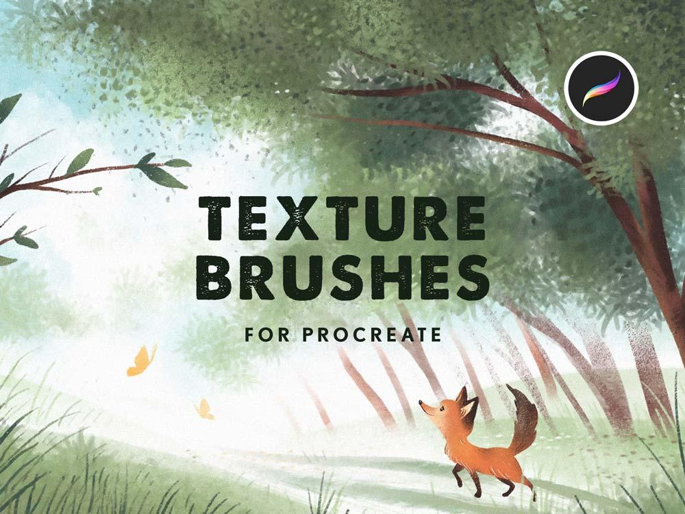Free Texture Procreate Brushes