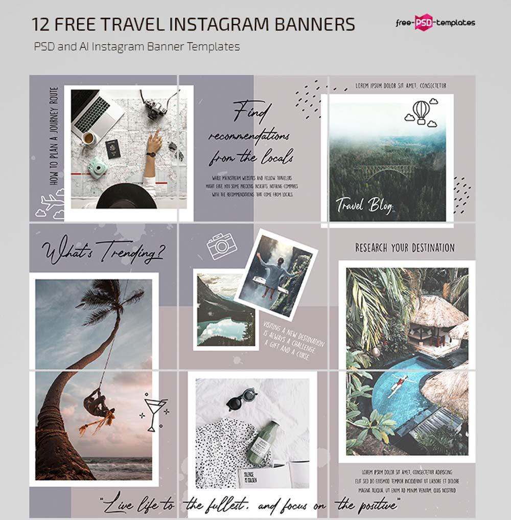 Free Travel Blog Instagram Template