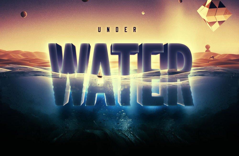 Free Underwater Text Effect