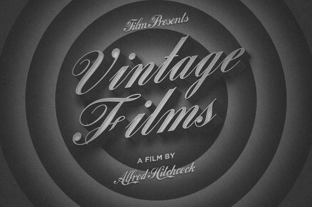 Free Vintage Film Text Effect