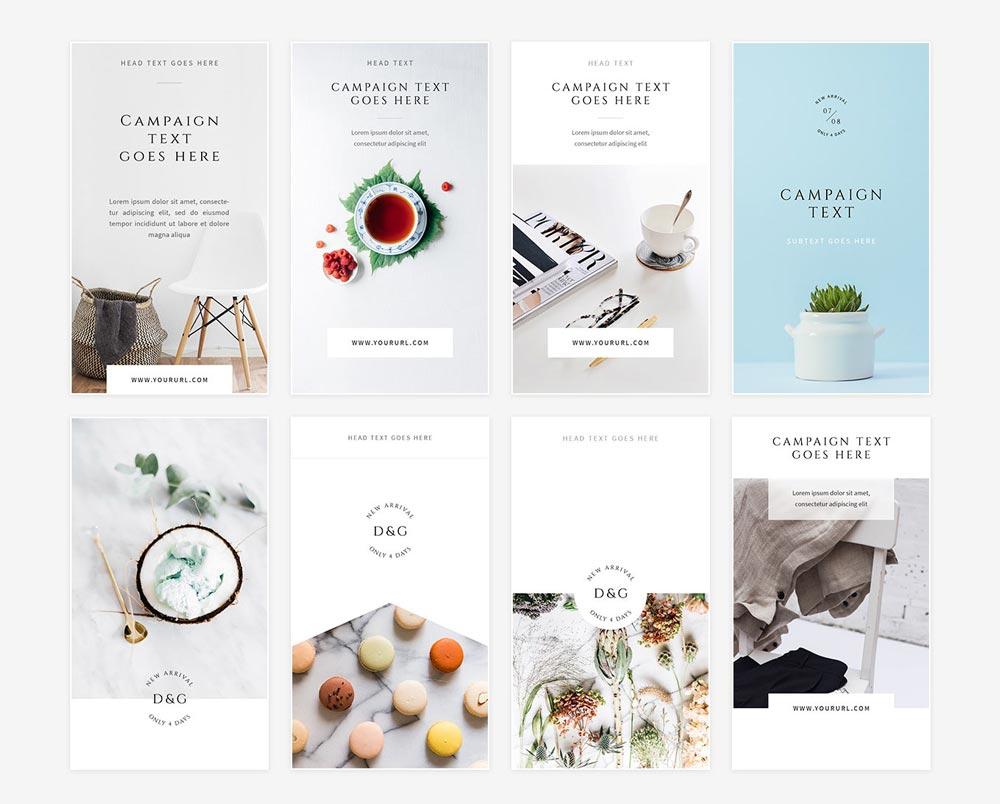Free White Instagram Stories Pack