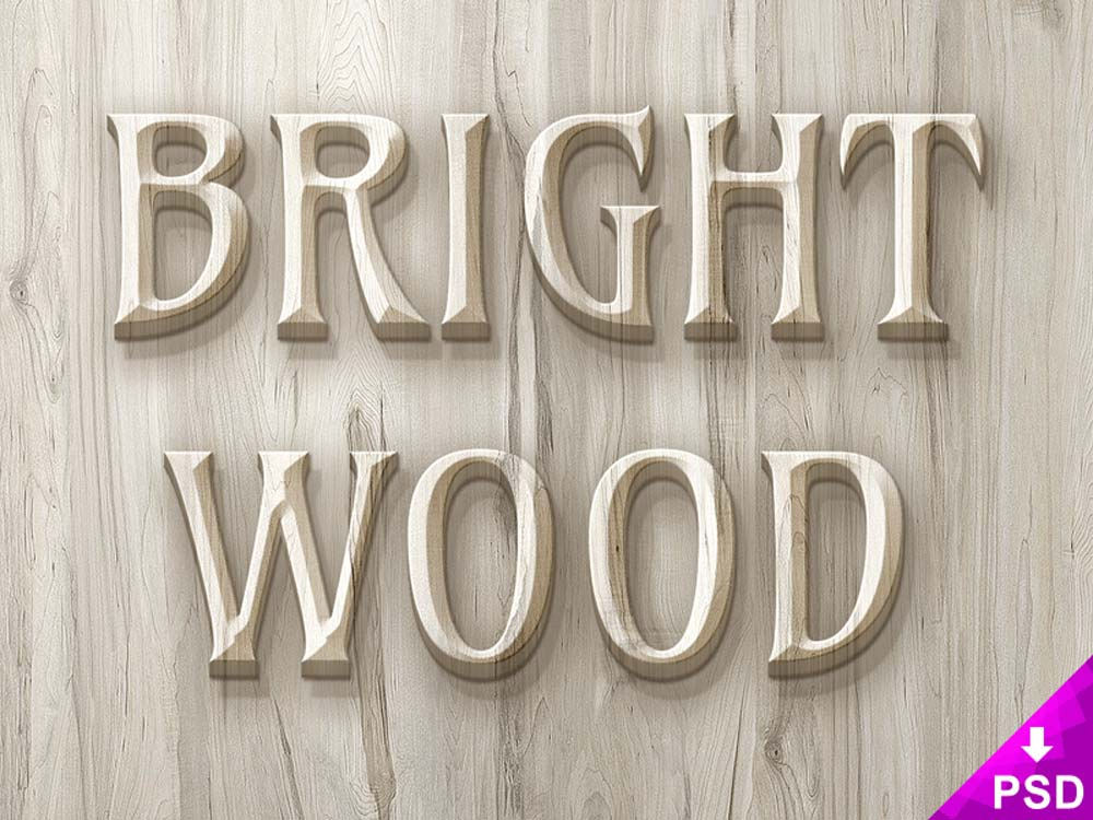 Free Wood Text Effect