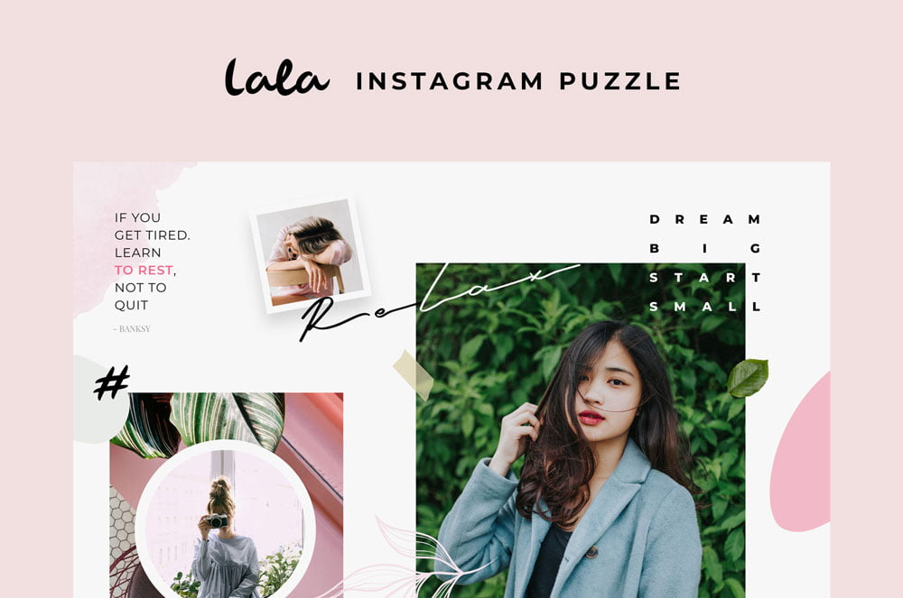 Free Lala Puzzle Instagram Templates