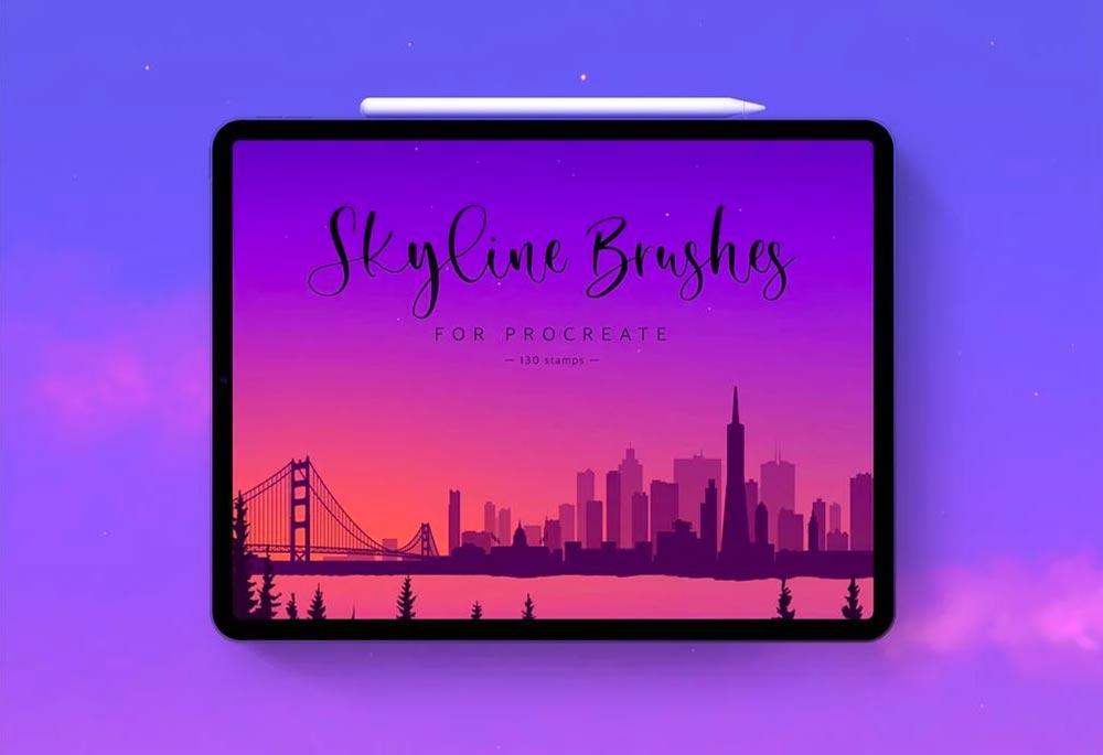 Free Skyline Silhouette for Procreate