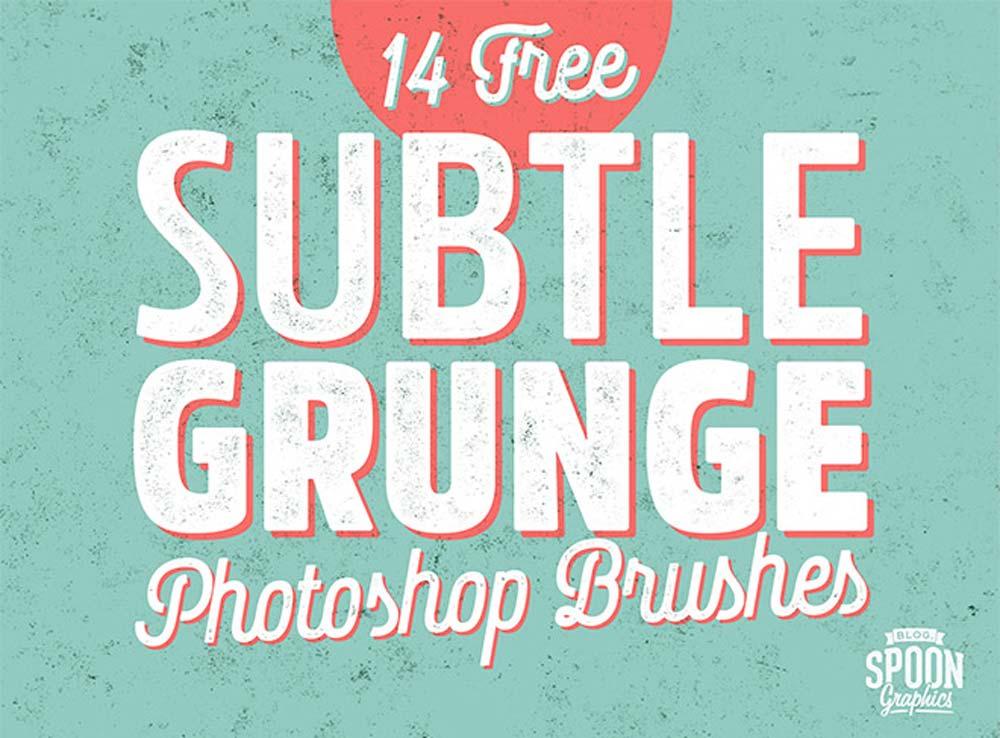 Free Subtle Grunge Texture Brushes