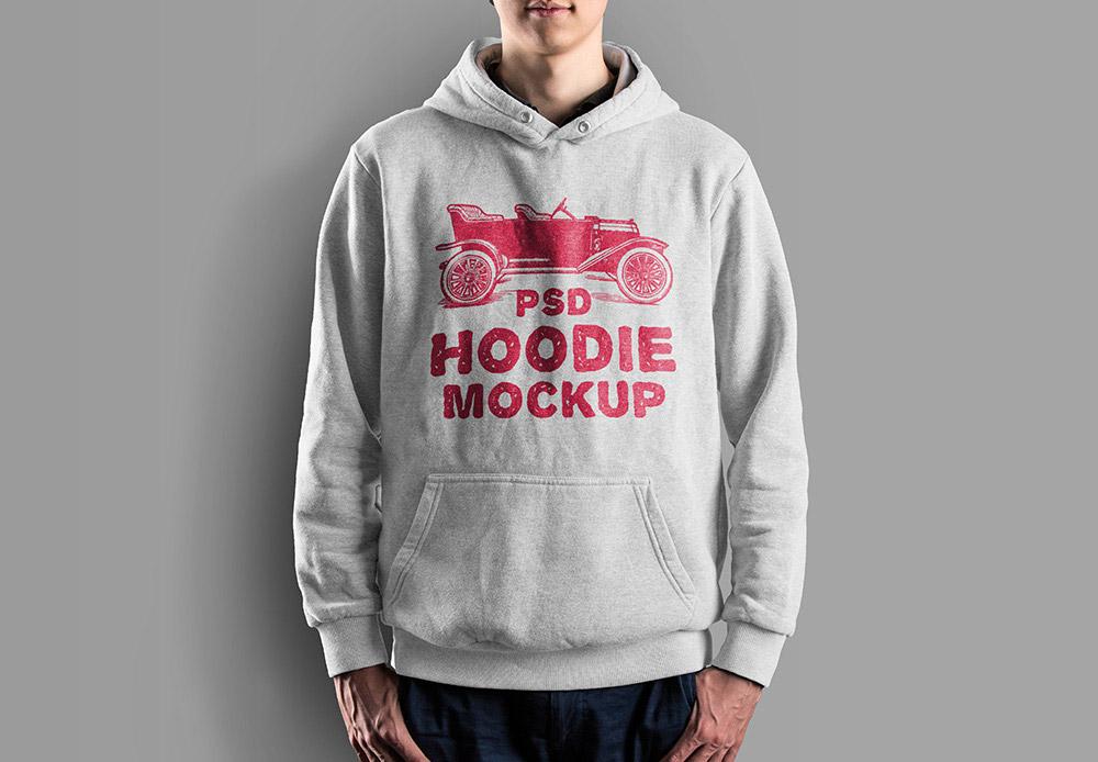 Male Hoodie Mockup