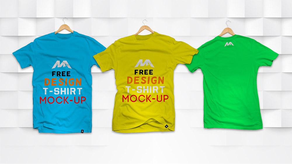 Free Front And Back T Shirt Mockup Mockuptree