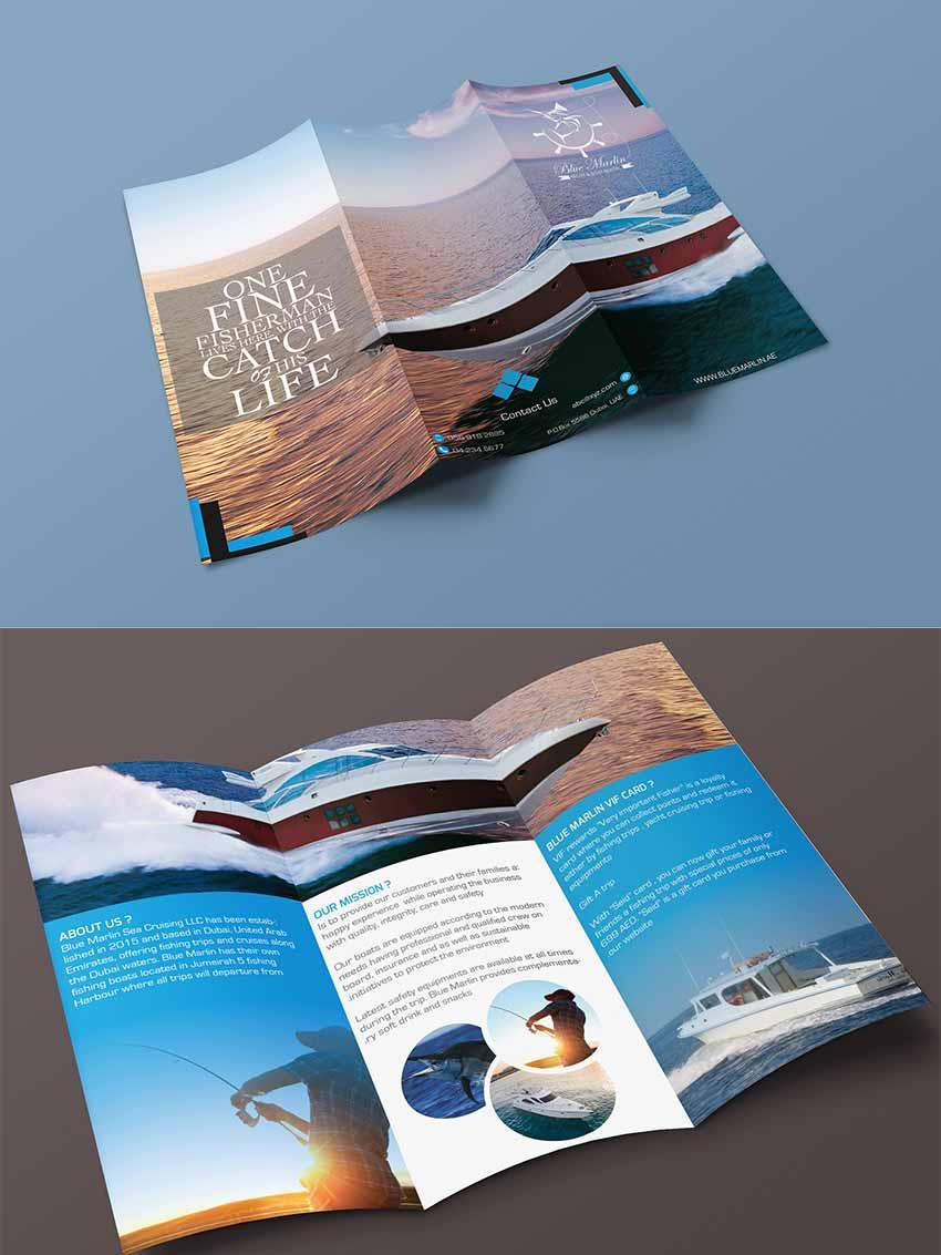 Free Tri Fold Brochure Mockups PSD