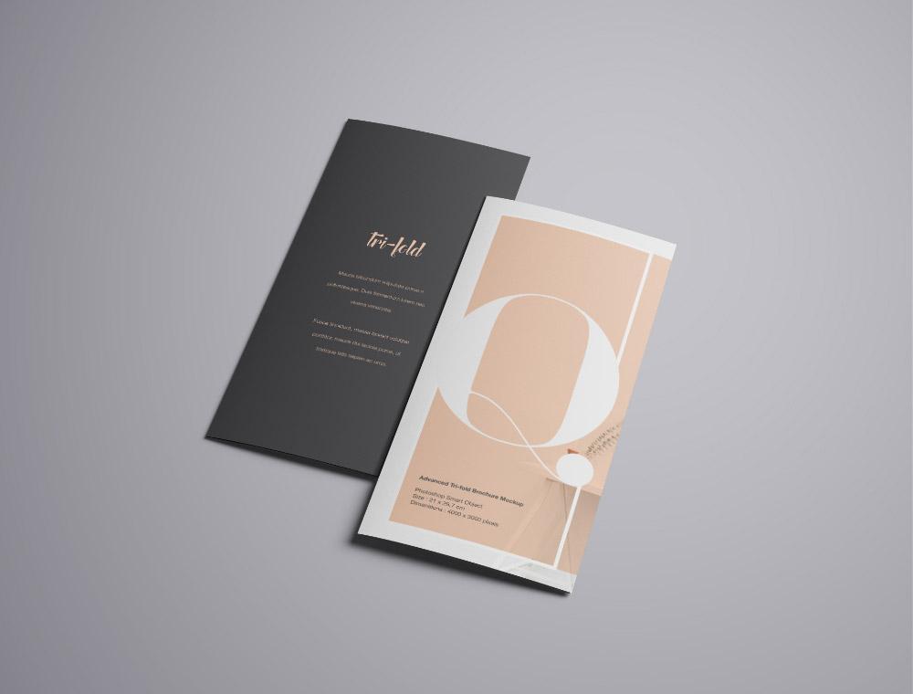 Free PSD A4 Trifold Brochure Mockup