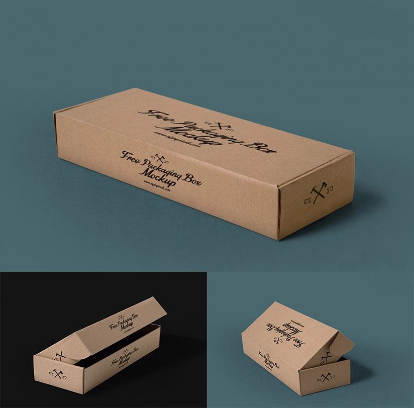 Free Three Packaging Box Mockups