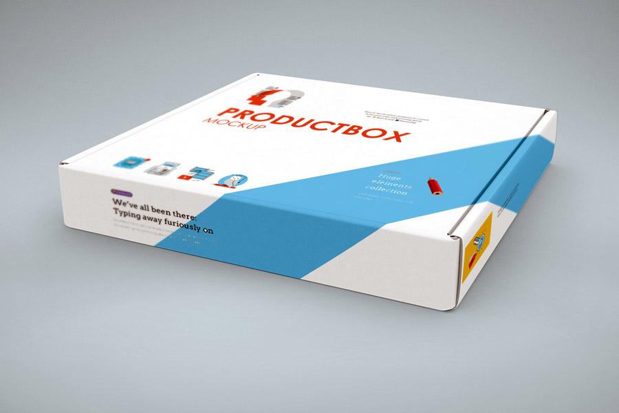 Free Hoziontal Box Mockup