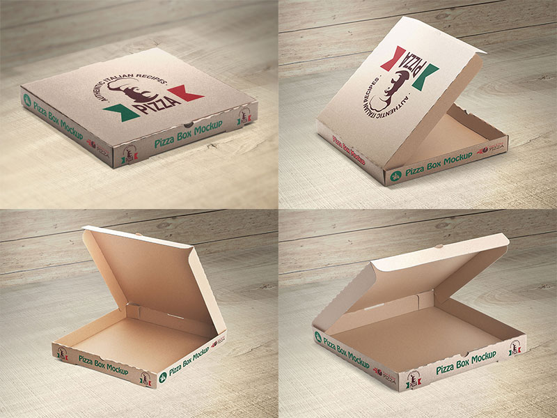 Free Pizza Box Mockups