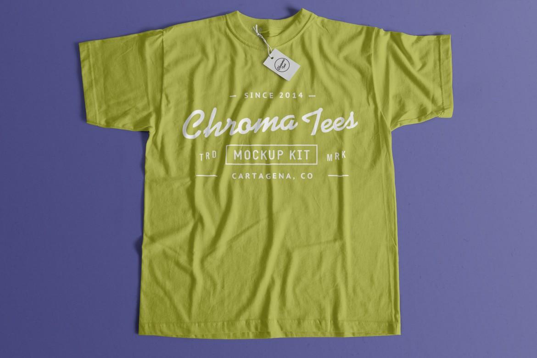 Free Flat T-Shirt Mockup