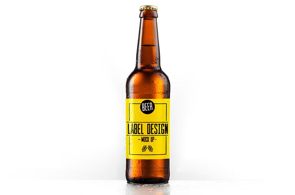 Free Beer Label Mockup