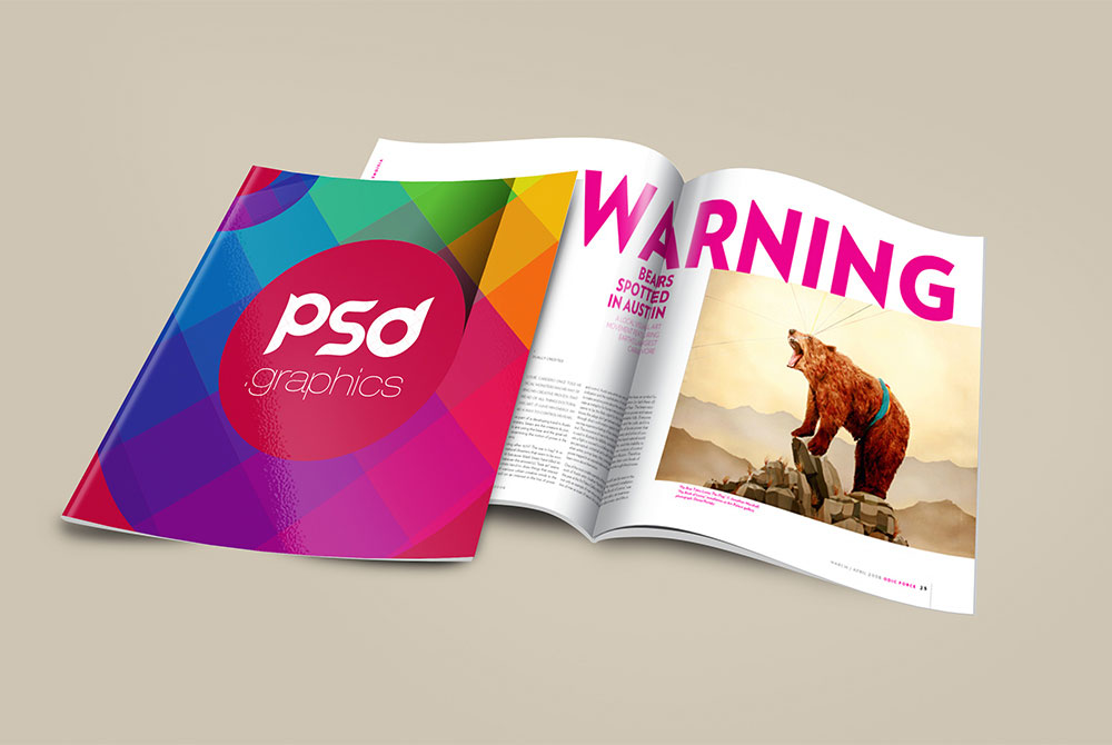 Free Brochure Magazine Mockup