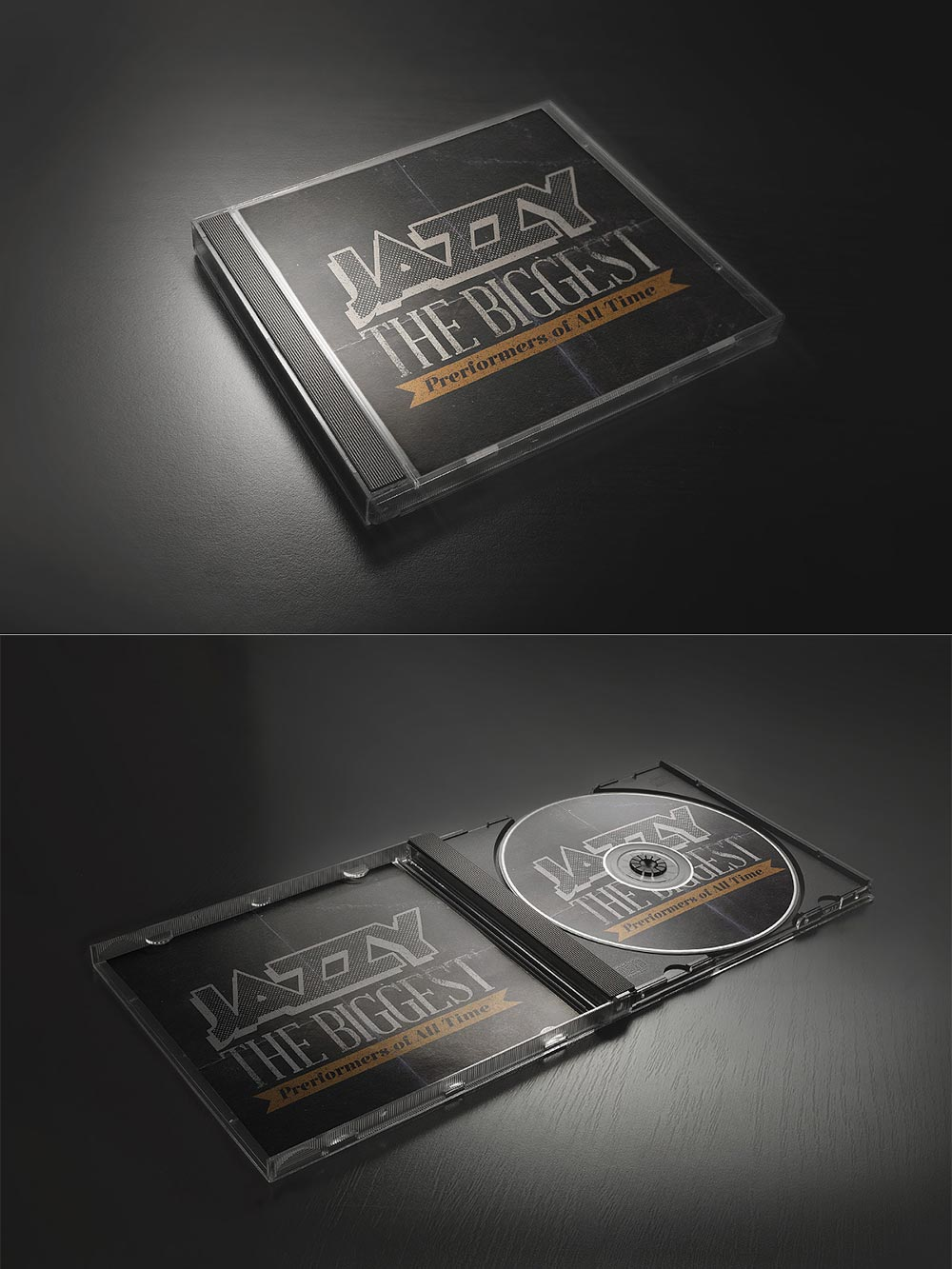 Free CD Cover & Case Mockup