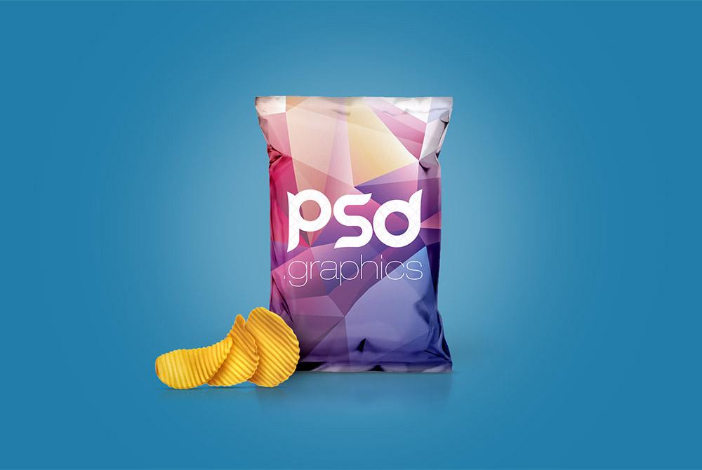 Free Chips Foil Bag Mockup