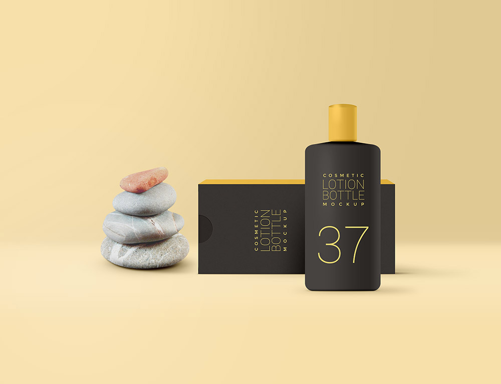 Free Cosmetic Lotion Mockup