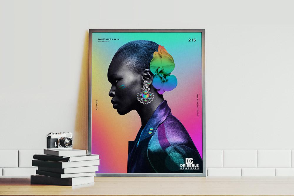 Free Indoor Poster Mockup
