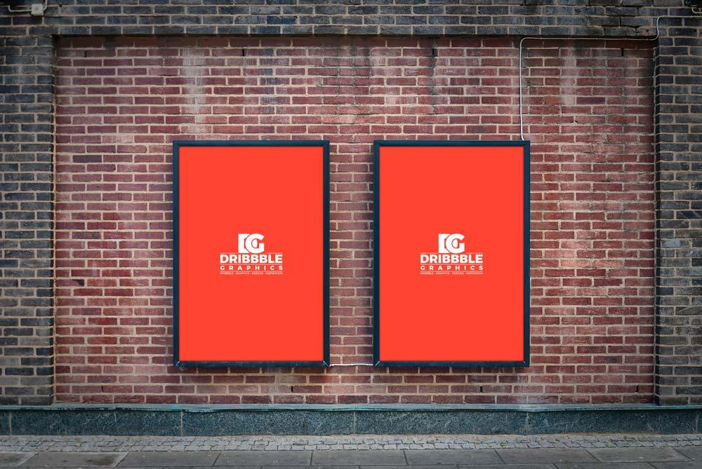 Free Street Billboard Poster Mockup