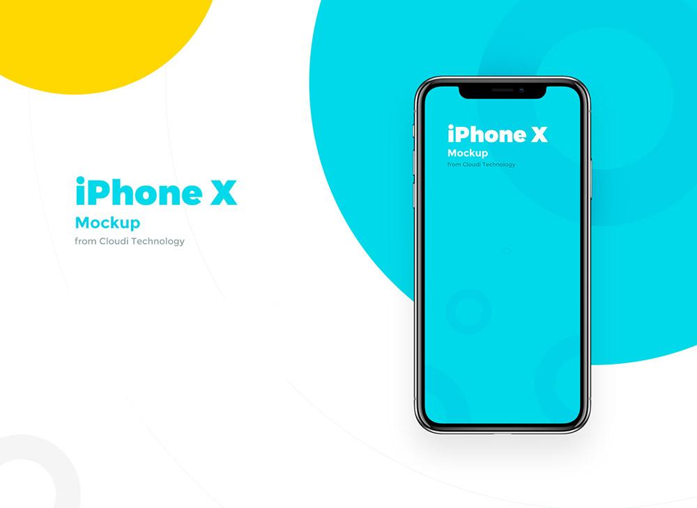 Free PSD iPhone X Mockup