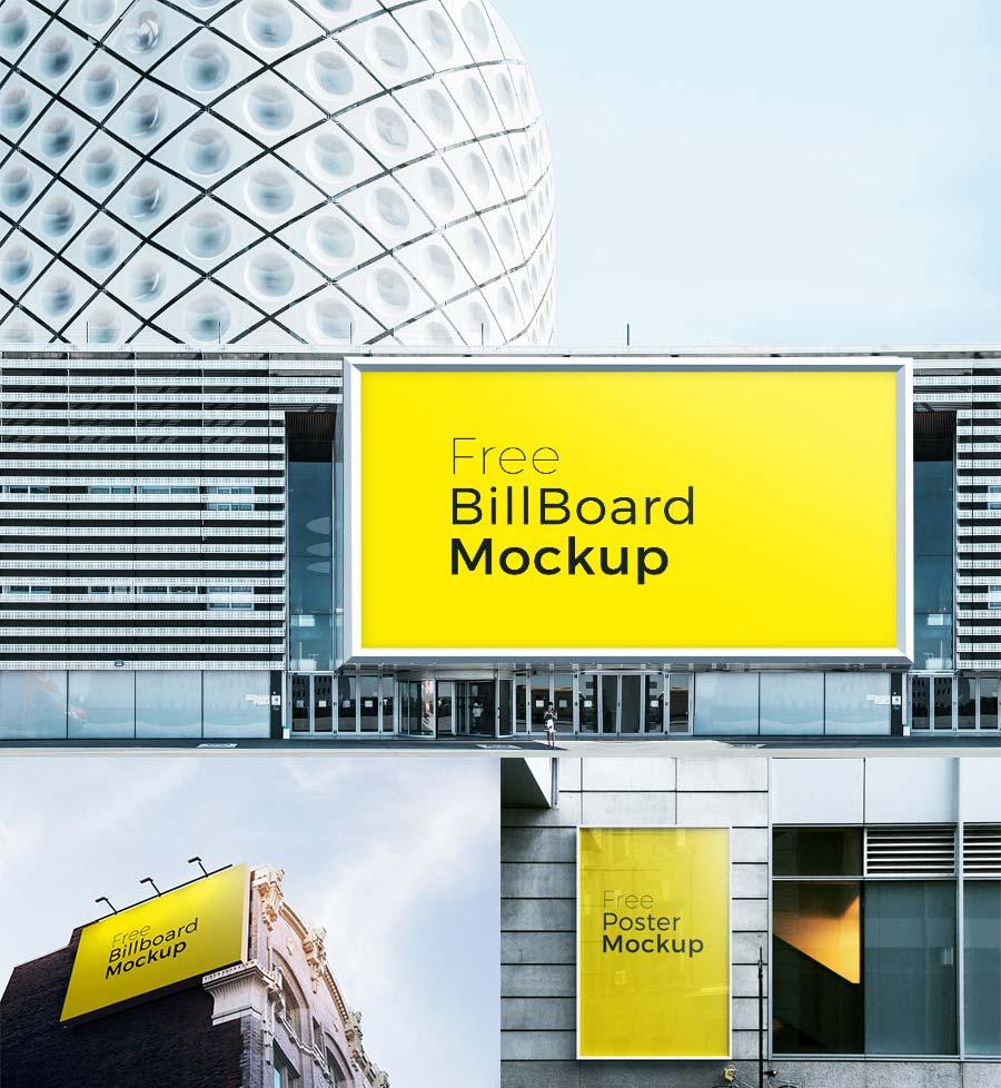 Free Poster and Billboard Mockups | Mockuptree