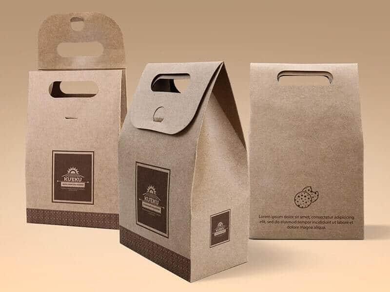 Free Kraft Paper Bag Mockup
