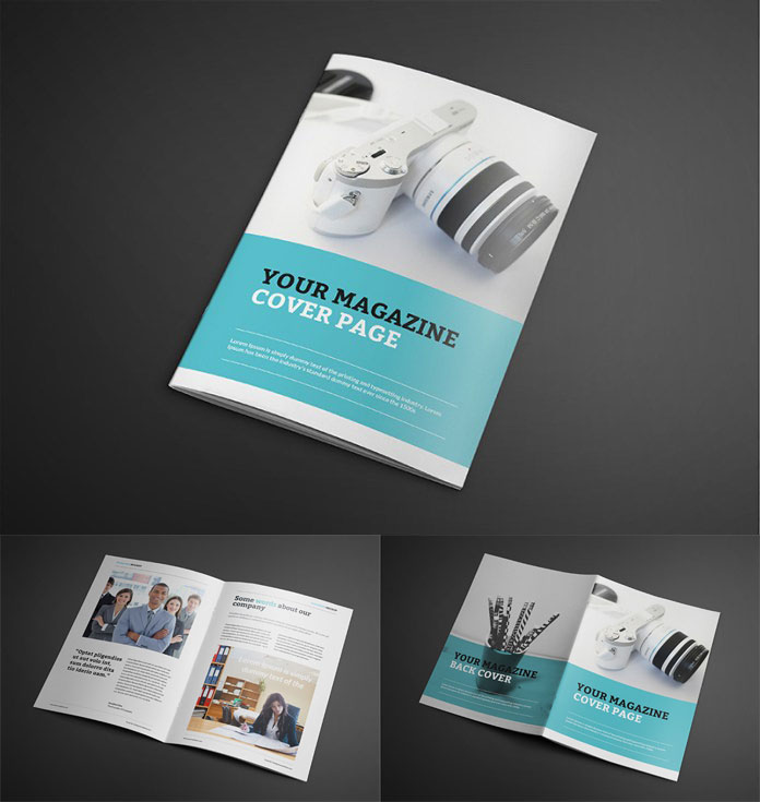 Free Catalogue Magazine Mockup