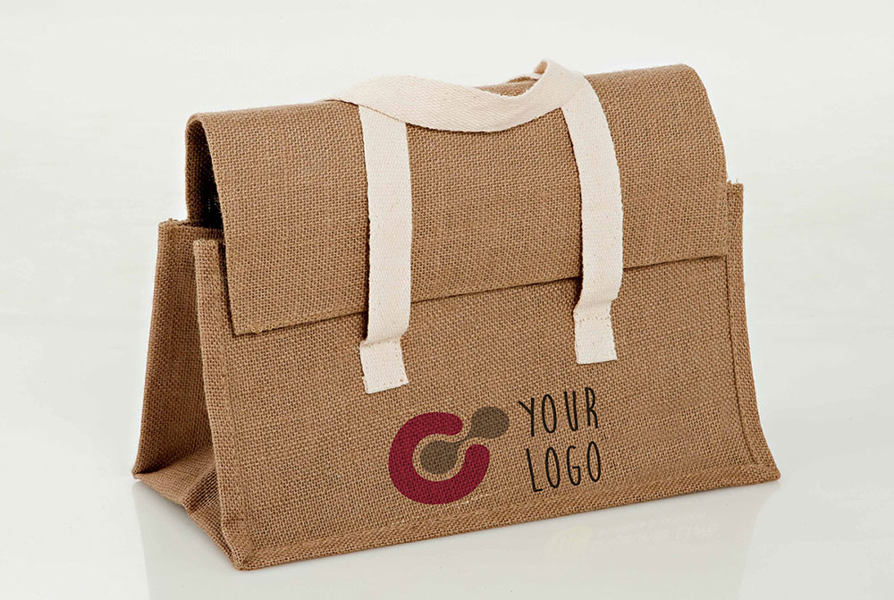 Free Raw Cloth Bag Mockup