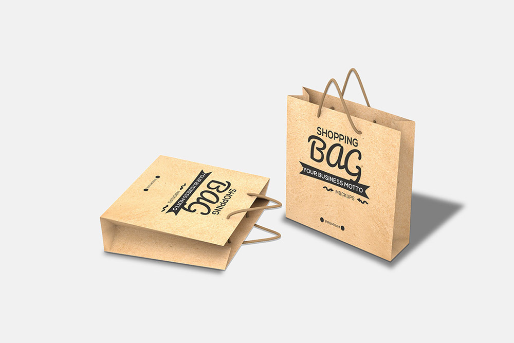Free Shopping Bag PSD Mockup