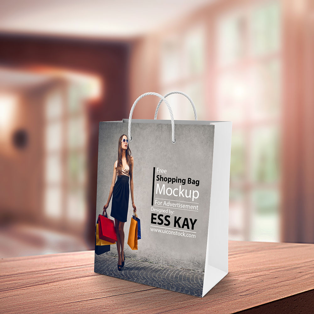 Free Wonderful Shopping Bag Mockup