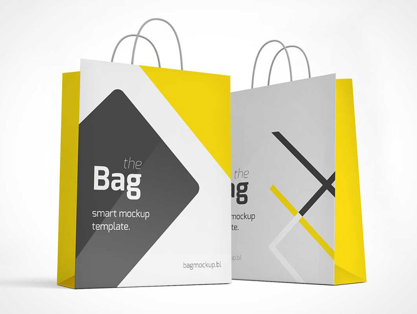 Free Photo realistic Shopping Bag Mockup