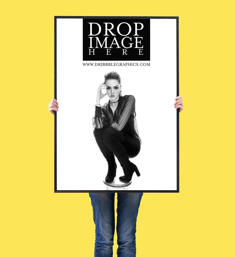 Free Vertical Poster Mockup