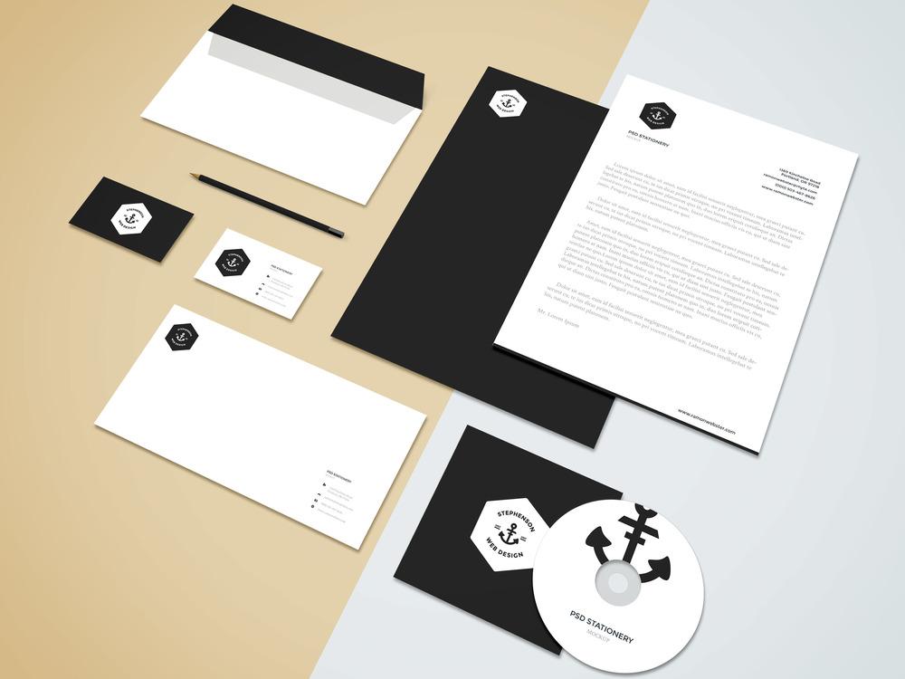 BrandingFree Stationery Mockup Design