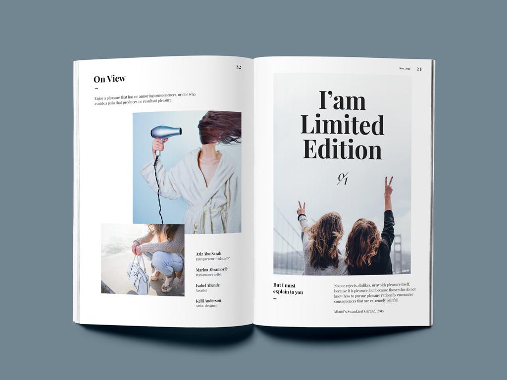 Free A5 Magazine Mockup