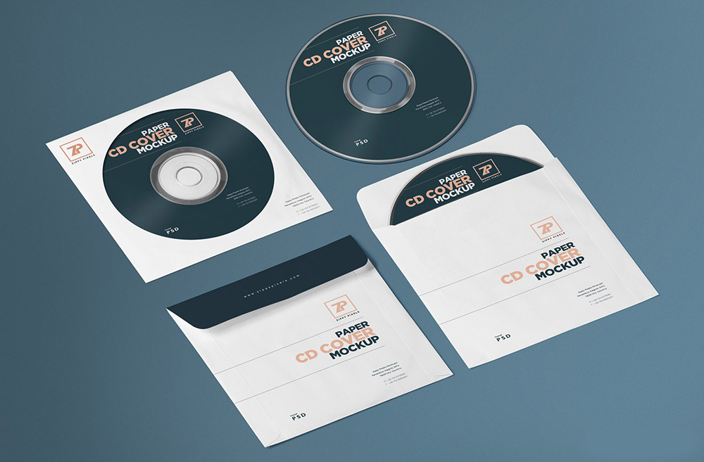 Free Isometric CD Cover Mockup