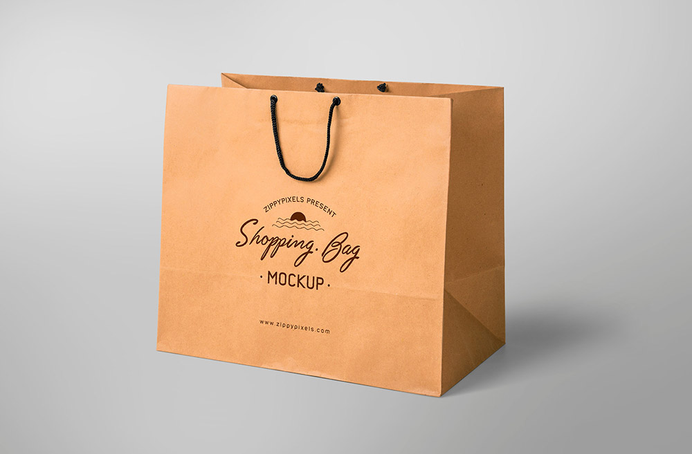 Free Simple Shopping Bag Mockup