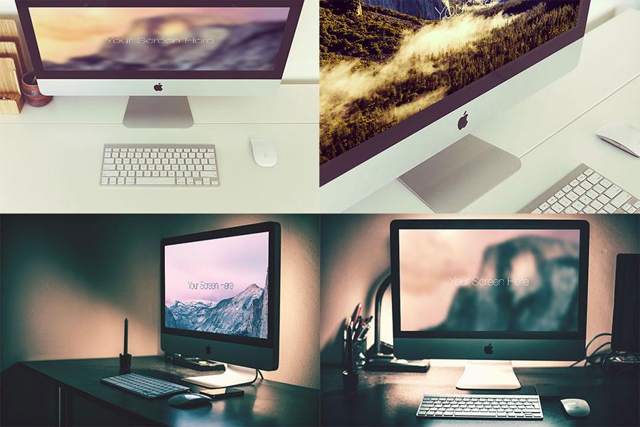 Free Photorealistic iMac Mockup