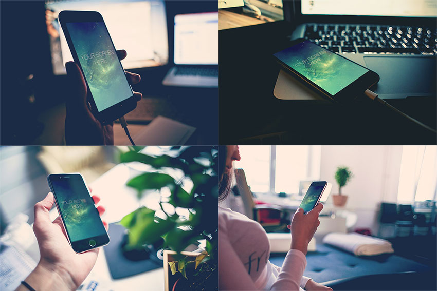 Free Photorealistic iPhone 6 Mockups