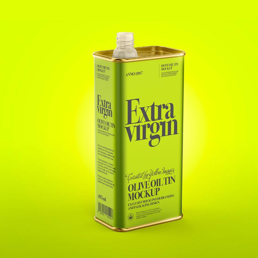 Free Oil Tin Can Mockup