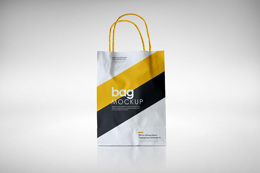 Free Elegant Paper Bag Mockup